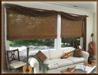 natural woven window shades