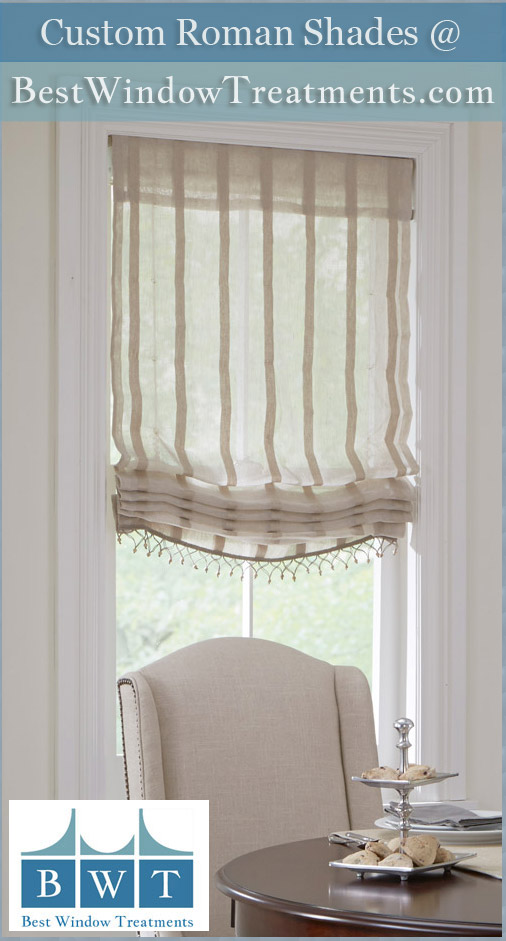 Linen roman shades arlo blinds ivory privacy cordless for Linen shades window treatments