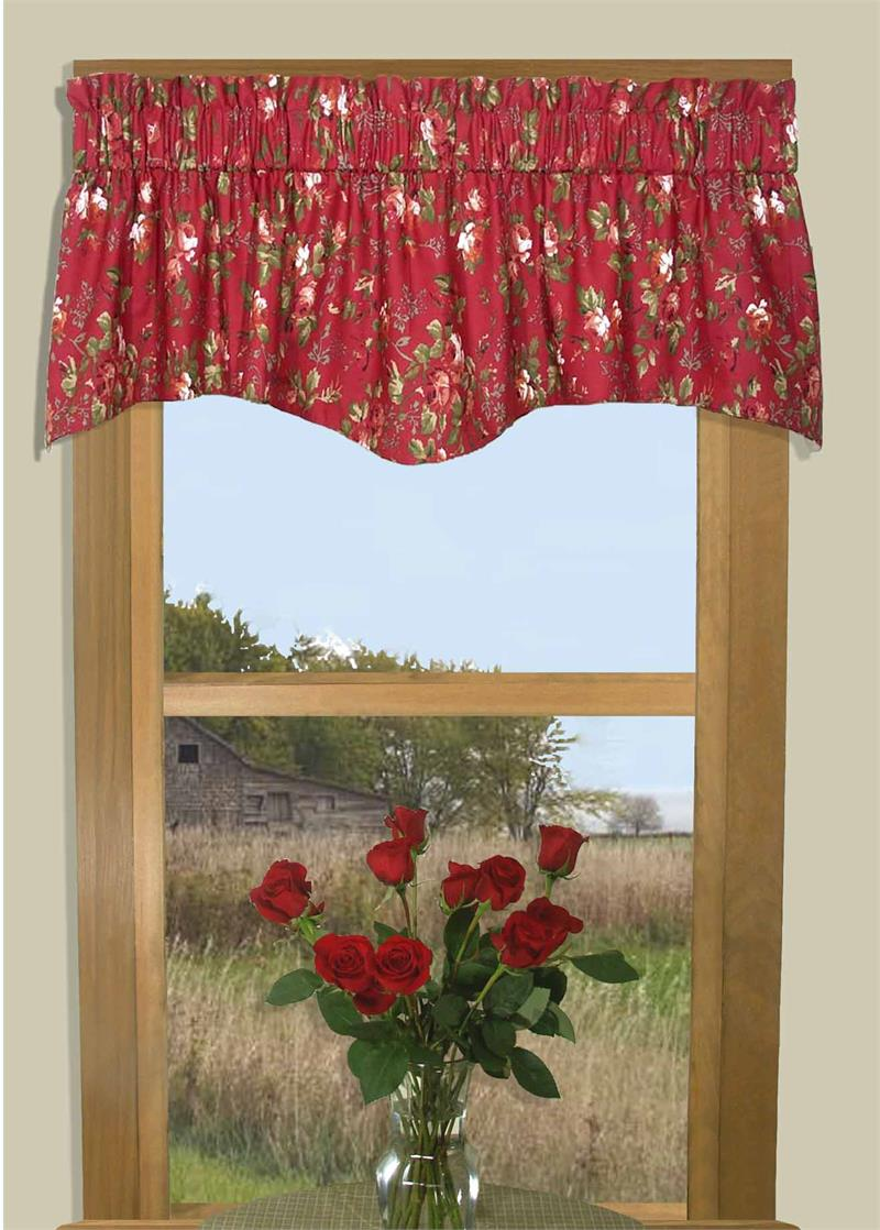 Roses And Bows M Shaped Valance