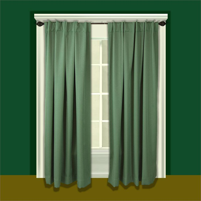 Grand Pointe Curtain Panel with Back Tabs