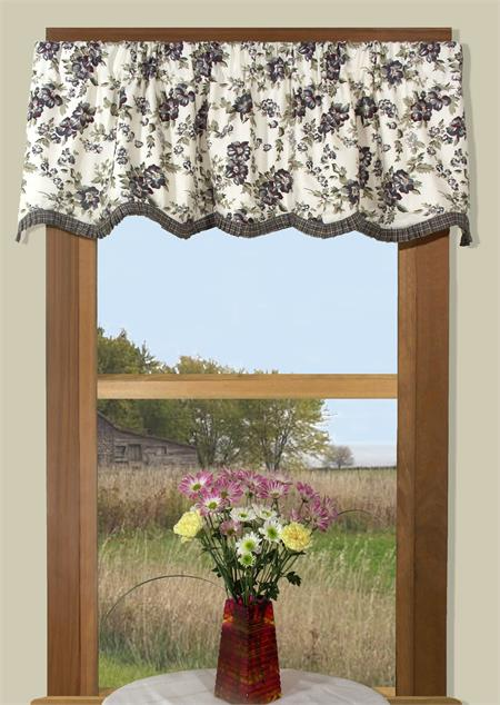Potpourri Plaid And Floral Valance In 3 Colors