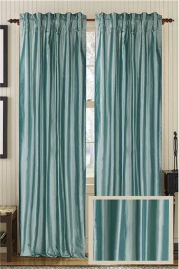 Solid Silk Curtain Panel Ready Made Or Custom Best